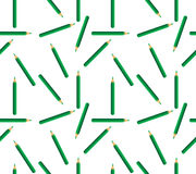 Seamless background of green pencils Stock Image