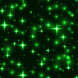 seamless background with green stars and blurs Stock Image