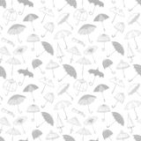 Seamless background with grey umbrellas. Can be used for wallpaper, pattern fills, textile, web page background, surface. Textures stock illustration