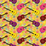 Seamless background, guitars Stock Photography