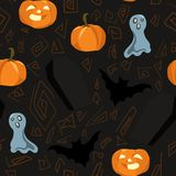 Seamless background for halloween Royalty Free Stock Image