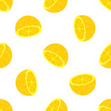 Seamless background of halves of citrus Royalty Free Stock Photography
