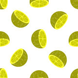 Seamless background of halves of citrus Stock Image