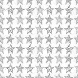 Seamless background hand drawing with black fishnet stars in the Stock Photos