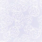Seamless background with hand drawn gentle roses Royalty Free Stock Photos