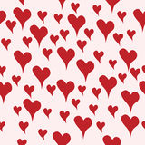 Seamless background with hand drawn hearts in love Stock Photo