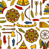 Seamless background with hand drawn objects on Stock Images
