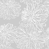 Seamless background with hand drawn peonies flowers. Vector. Monochrome seamless background with hand drawn peonies flowers. Abstract vintage background with stock illustration