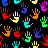 Seamless a background with hands Stock Photo