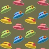 seamless background with hats Royalty Free Stock Photography