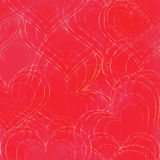Seamless Background with Heart Shapes Royalty Free Stock Photo