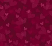 Seamless background with hearts. Seamless background with randomly placed hearts Stock Photos