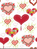 Seamless background with hearts. Seamless background with different hearts Royalty Free Stock Image