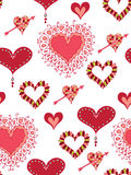 Seamless background with hearts. Seamless background with different hearts Stock Photo