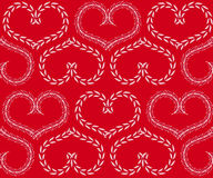 Seamless background with hearts. Red seamless background with hearts from plants Royalty Free Stock Photos