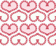Seamless background with hearts. Seamless background with pink and red hearts from plants Royalty Free Stock Photos
