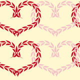 Seamless background with hearts. Seamless background with pink and red hearts from plants Stock Photography