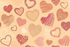Seamless background with hearts. Seamless background with the image of symbols of heart vector illustration