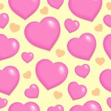 Seamless background with hearts 2. Vector illustration Royalty Free Stock Image