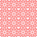 Seamless background with hearts stock illustration