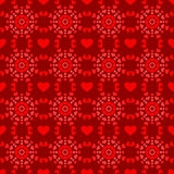 Seamless background with hearts Royalty Free Stock Photos