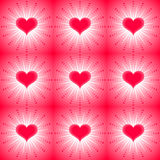 Seamless background with hearts Stock Images