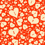 Seamless background with hearts. Royalty Free Stock Photography