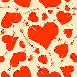 Seamless background with hearts. Royalty Free Stock Photos