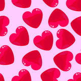 Seamless background of hearts Royalty Free Stock Photo