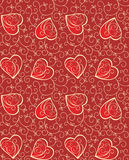 Seamless background with hearts. Seamless decorative background with hearts Royalty Free Stock Photo