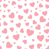 Seamless background with hearts Royalty Free Stock Photo
