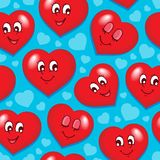 Seamless background with hearts 7. Vector illustration Royalty Free Stock Photography