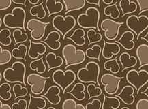Seamless background with hearts. The Seamless abstract background with hearts royalty free illustration