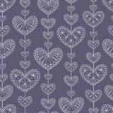 Seamless background with hearts Stock Photography