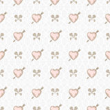 Seamless background with hearts and keys Royalty Free Stock Image