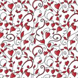 Seamless background with hearts ornament Royalty Free Stock Images