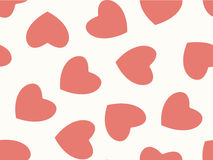 Seamless background of hearts in pastel color Royalty Free Stock Photo