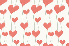 Seamless background of hearts in pastel color Stock Photo
