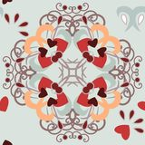 Seamless_background_hearts_pattern 免版税库存图片