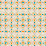 Seamless background of hearts, romantic pattern, e Royalty Free Stock Images