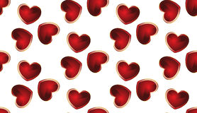 Seamless background with hearts Royalty Free Stock Image