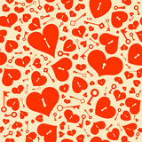 Seamless background with hearts. Royalty Free Stock Image