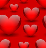Seamless background with hearts vector illustration