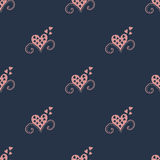 Seamless background with hearts. Vector pattern Royalty Free Stock Photography