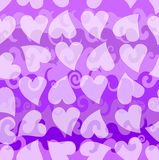 Seamless background with hearts and waves Royalty Free Stock Images