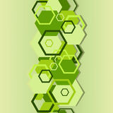 Seamless a background with hexagons Royalty Free Stock Images