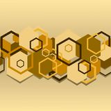 Seamless a background with hexagons Royalty Free Stock Photos