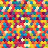 Seamless Background of Hexagons Stock Photos