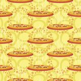 Seamless background, hot pizza Royalty Free Stock Images