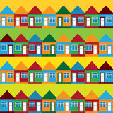 Seamless background houses Stock Images